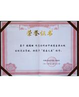 慈善荣誉证书